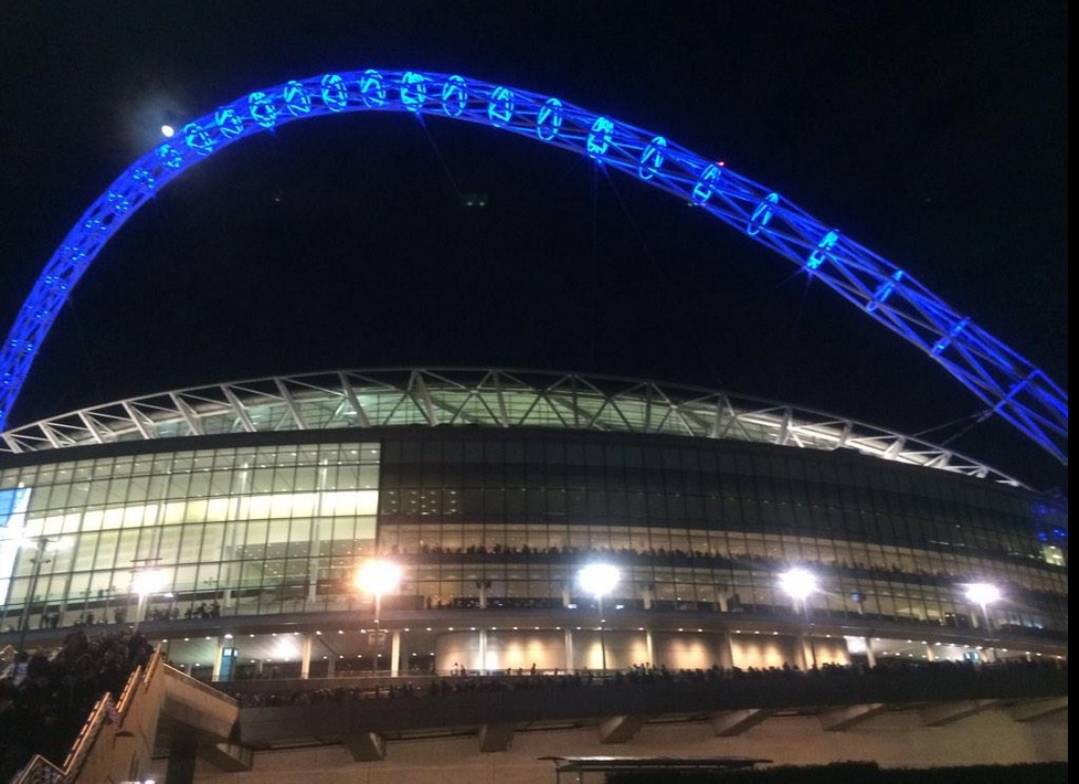 The arch is blue